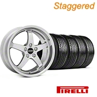 MMD Staggered Kage Polished Wheel & Pirelli Tire Kit - 19x8.5/10 (05-14 GT,V6) - MMD KIT||100271||100272||63101||63102