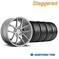 Niche Staggered Targa Matte Silver Wheel & Sumitomo Tire Kit - 19x8.5/9.5 (05-14 All) - Niche KIT||100199||100200||63036||63037