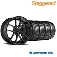 Niche Staggered Targa Black Wheel & Sumitomo Tire Kit - 19x8.5/9.5 (05-14 All) - Niche KIT||100201||100202||63036||63037