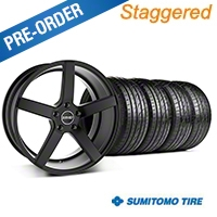 MMD Staggered 551C Black Wheel & Sumitomo Tire Kit - 19x8.5/10 (05-14 All) - MMD KIT||100255||100256||63036||63037