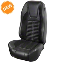 TMI Premium Sport R500 Upholstery & Foam Kit - Black Vinyl & Black Stripe/Stitch (87-93 All) - TMI PARENT||PARENT