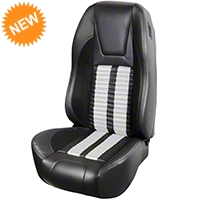 TMI Premium Sport R500 Seat Upgrade - Black Vinyl & White Stripe/Stitch (94-98 All) - TMI PARENT