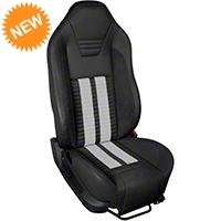 TMI Premium Sport R500 Seat Upgrade - Black Vinyl & White Stripe/Stitch (05-07 All) - TMI PARENT