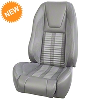 TMI Premium Sport R500 Upholstery & Foam Kit - Gray Vinyl & White Stripe/Stitch (87-93 All) - TMI Parent