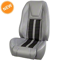 TMI Premium Sport R500 Seat Upgrade - Gray Vinyl & Black Stripe/Stitch (87-93 All) - TMI PARENT
