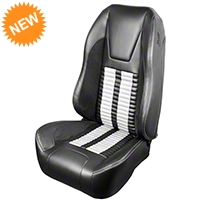 TMI Premium Sport R500 Seat Upgrade - Gray Vinyl & White Stripe/Stitch (99-04 All) - TMI PARENT