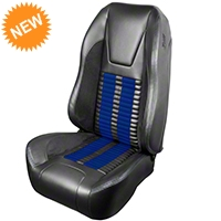 TMI Premium Sport R500 Seat Upgrade - Gray Vinyl & Blue Stripe/Stitch (99-04 All) - TMI PARENT