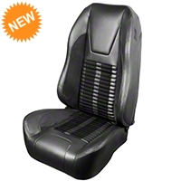 TMI Premium Sport R500 Seat Upgrade - Gray Vinyl & Black Stripe/Stitch (99-04 All) - TMI PARENT