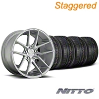 Niche Staggered Targa Matte Silver Wheel & NITTO INVO Tire Kit - 19x8.5/9.5 (05-14 All) - Niche KIT||100199||100200||79520||79521
