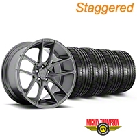 Niche Staggered Targa Anthracite Wheel & Mickey Thompson Tire Kit - 19x8.50/9.5 (05-14 All) - Niche KIT||100197||100198||79539||79540