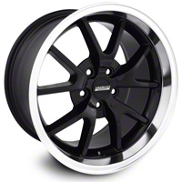 Deep Dish FR500 Style Black Wheel - 18x10 (05-14 All) - American Muscle Wheels 10070