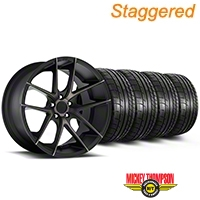 Niche Staggered Targa Black Wheel & Mickey Thompson Tire Kit - 19x8.5/9.5 (05-14 All) - Niche KIT||100201||100202||79539||79540