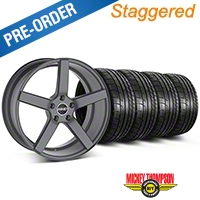 MMD Staggered 551C Charcoal Wheel & Mickey Thompson Tire Kit - 19x8.5/10 (05-14 All) - MMD KIT||100253||100254||79539||79540