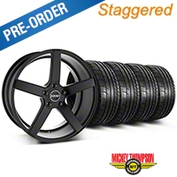 MMD Staggered 551C Black Wheel & Mickey Thompson Tire Kit - 19x8.5/10 (05-14 All) - MMD KIT||100255||100256||79539||79540