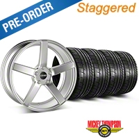 MMD Staggered 551C Silver Wheel & Mickey Thompson Tire Kit - 19x8.5/10 (05-14 All) - MMD KIT||100257||100258||79539||79540