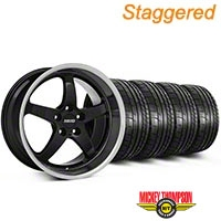 MMD Staggered Kage Black Wheel & Mickey Thompson Tire Kit - 19x8.5/10 (05-14 GT,V6) - MMD KIT||100269||100270||79539||79540