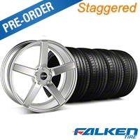 MMD Staggered 551C Silver Wheel & Falken Tire Kit - 19x8.5/10 (05-14 All) - MMD KIT||100257||100258||79571||79572