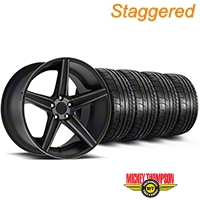 Niche Staggered Apex Matte Black Wheel & Mickey Thompson Tire Kit - 20x8.5/10 (05-14 All) - Niche KIT||100193||100194||79541||79542