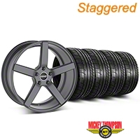 MMD Staggered 551C Charcoal Wheel & Mickey Thompson Tire Kit - 20x8.5/10 (05-14 All) - MMD KIT||100259||100260||79541||79542
