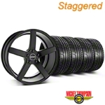 MMD Staggered 551C Black Wheel & Mickey Thompson Tire Kit - 20x8.5/10 (05-14 All) - MMD KIT||100261||100262||79541||79542