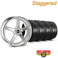 MMD Staggered 551C Silver Wheel & Mickey Thompson Tire Kit - 20x8.5/10 (05-14 All) - MMD KIT||100263||100264||79541||79542