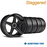 Niche Staggered Apex Matte Black Wheel & Sumitomo Tire Kit - 20x8.5/10 (05-14 All) - Niche KIT||100193||100194||63024||63025