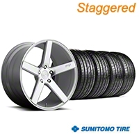 Niche Staggered Milan Silver Wheel & Sumitomo Tire Kit - 20x8.5/10 (05-14 All) - Niche KIT||100209||100210||63024||63025