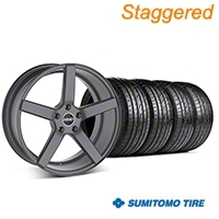 MMD Staggered 551C Charcoal Wheel & Sumitomo Tire Kit - 20x8.5/10 (05-14 All) - MMD KIT||100259||100260||63024||63025