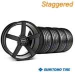MMD Staggered 551C Black Wheel & Sumitomo Tire Kit - 20x8.5/10 (05-14 All) - MMD KIT||100261||100262||63024||63025