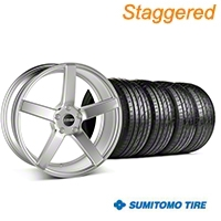 MMD Staggered 551C Silver Wheel & Sumitomo Tire Kit - 20x8.5/10 (05-14 All) - MMD KIT||100263||100264||63024||63025