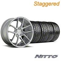 Niche Staggered Targa Matte Silver Wheel & NITTO Tire Kit - 20x8.5/10 (05-14 All) - Niche KIT||100205||100206||76005||76006
