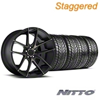 Niche Staggered Targa Black Wheel & NITTO Tire Kit - 20x8.5/10 (05-14 All) - Niche KIT||100207||100208||76005||76006