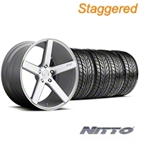 Niche Staggered Milan Silver Wheel & NITTO Tire Kit - 20x8.5/10 (05-14 All) - Niche KIT||100209||100210||76005||76006