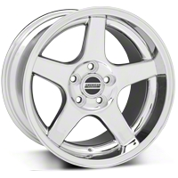 Chrome Deep Dish 2003 Style Cobra Wheel - 17x10.5 (94-04 All)
