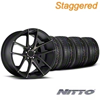 Niche Staggered Targa Black Wheel & NITTO INVO Tire Kit - 20x8.5/10 (05-14 All) - Niche KIT||100207||100208||79524||79525
