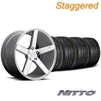 Niche Staggered Milan Silver Wheel & NITTO INVO Tire Kit - 20x8.5/10 (05-14 All) - Niche KIT||100209||100210||79524||79525