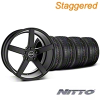 MMD Staggered 551C Black Wheel & NITTO INVO Tire Kit - 20x8.5/10 (05-14 All) - MMD KIT||100261||100262||79524||79525