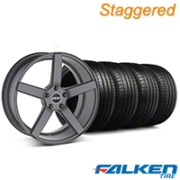 MMD Staggered 551C Charcoal Wheel & Falken Tire Kit - 20x8.5/10 (05-14 All) - MMD KIT||100259||100260||79573||79574