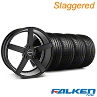 MMD Staggered 551C Black Wheel & Falken Tire Kit - 20x8.5/10 (05-14 All) - MMD KIT||100261||100262||79573||79574