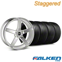 MMD Staggered 551C Silver Wheel & Falken Tire Kit - 20x8.5/10 (05-14 All) - MMD KIT||100263||100264||79573||79574