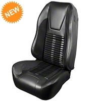 TMI Premium Sport R500 Seat Upgrade - Black Vinyl & Black Stripe/Stitch (99-04 All) - TMI Parent