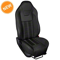 TMI Premium Sport R500 Seat Upgrade - Black Vinyl & Black Stripe/Stitch (05-07 All) - TMI Parent