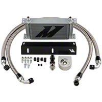 Mishimoto Direct-Fit Performance Oil Cooler - Silver (79-93 5.0L) - Mishimoto MMOC-MUS-79