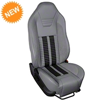 TMI Premium Sport R500 Seat Upgrade - Gray Vinyl & Black Stripe/Stitch (05-07 All) - TMI PARENT