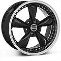 Bullitt Motorsport Black Wheel - 18x9 (87-93 5 Lug Conversion) - American Muscle Wheels 10082