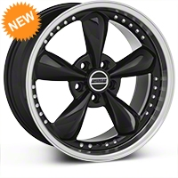Black Bullitt Motorsport Wheel - 18x9 (87-93 5 Lug Conversion) - AmericanMuscle Wheels 10082