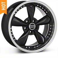 Bullitt Motorsport Black Wheel - 18x9 (94-04 All) - American Muscle Wheels 10082
