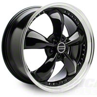 Bullitt Motorsport Black Wheel - 20x8.5 (05-14 V6; 05-10 GT) - American Muscle Wheels 10084