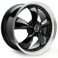 Bullitt Motorsport Black Wheel - 20x8.5 (05-14 V6; 05-10 GT, Excluding GT500) - American Muscle Wheels 10084