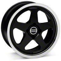 Black SC Style Wheel - 17x8 (87-93; Excludes 93 Cobra) - AmericanMuscle Wheels 10090